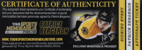 """Patrice Bergeron Signed 2015 All-Star Game Logo Hockey Puck Inscribed """"1G. 4A 5PTS"""" (Bergeron COA) at PristineAuction.com"""