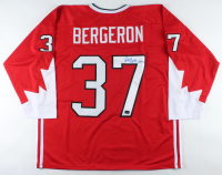 "Patrice Bergeron Signed Jersey Inscribed ""Gold"" (Bergeron COA) (See Description) at PristineAuction.com"
