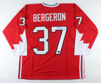 "Patrice Bergeron Signed Jersey Inscribed ""Gold"" (Bergeron Hologram) at PristineAuction.com"