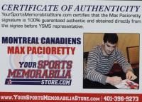 Max Pacioretty Signed Canadiens Jersey (Pacioretty COA) at PristineAuction.com