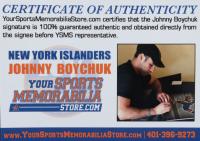 "Johnny Boychuk Signed Islanders Jersey Inscribed ""Johnny Rocket!"" (Boychuk COA) at PristineAuction.com"