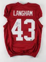"Antonio Langham Signed Jersey Inscribed ""Roll Tide"" (TriStar Hologram) at PristineAuction.com"