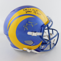 "Aaron Donald Signed Rams Full-Size Speed Helmet Inscribed ""DROY 2014"" * & ""DPOY 17 18 20"" (JSA COA) at PristineAuction.com"