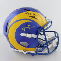 "Aaron Donald Signed Rams Full-Size Speed Helmet Inscribed ""QB's Worst Nightmare"" (JSA COA) at PristineAuction.com"