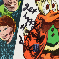 """Ed Gale Signed 1978 """"Howard The Duck"""" Issue #26 Marvel Comic Book Inscribed """"Howard T. Duck"""" & """"Get Happy"""" (Beckett COA) at PristineAuction.com"""