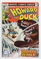 "Ed Gale Signed 1977 ""Howard The Duck"" Issue #9 Marvel Comic Book Inscribed ""Howard T. Duck"" & ""Mean Beaver!"" (Beckett COA) at PristineAuction.com"
