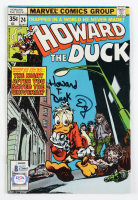 "Ed Gale Signed 1978 ""Howard The Duck"" Issue #24 Marvel Comic Book Inscribed ""Howard T. Duck"" (Beckett COA) at PristineAuction.com"