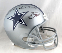 """The Triplets"" Troy Aikman, Emmitt Smith & Michael Irvin Signed Cowboys Full-Size Helmet (JSA COA & Prova COA) at PristineAuction.com"