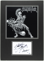 """Mark Slaughter Signed Slaughter 16x22 Custom Matted Cut Envelope Display Inscribed """"2019!"""" (Beckett COA) (See Description) at PristineAuction.com"""