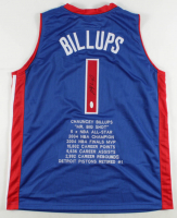 Chauncey Billups Signed Career Highlight Stat Jersey (JSA COA) at PristineAuction.com