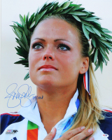 "Jennie Finch Signed Team USA 16x20 Photo Inscribed ""04 Gold"" (PSA COA) at PristineAuction.com"