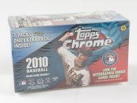 2010 Topps Chrome Baseball Blaster Box with (7) Packs at PristineAuction.com
