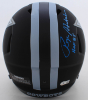"Roger Staubach Signed Cowboys Full-Size Eclipse Alternate Speed Helmet Inscribed ""HOF 85"" (Beckett Hologram) at PristineAuction.com"