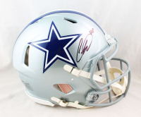 CeeDee Lamb Signed Cowboys Full-Size Authentic On-Field Speed Helmet (Fanatics Hologram) at PristineAuction.com