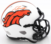 Jerry Jeudy Signed Broncos Lunar Eclipse Alternate Speed Mini-Helmet (Beckett COA) at PristineAuction.com