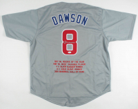 Andre Dawson Signed Career Highlight Stat Jersey (JSA COA) at PristineAuction.com