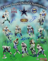 """Cowboys 3x Super Bowl Champions 16x20 Photo Team-Signed by (15) with Troy Aikman, Emmitt Smith, Michael """"Playmaker"""" Irvin, Darren Woodson, Daryl """"Moose"""" Johnston (Beckett LOA, Aikman & Smith Holograms) at PristineAuction.com"""