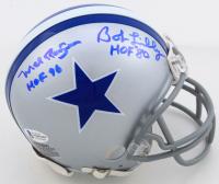 "Bob Lilly & Mel Renfro Signed Cowboys Throwback Mini Helmet Inscribed ""HOF '80"" & ""HOF-96"" (Beckett COA) at PristineAuction.com"