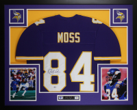 Randy Moss Signed 35x43 Custom Framed Jersey (Beckett COA) at PristineAuction.com