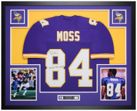 "Randy Moss Signed 35x43 Custom Framed Jersey Inscribed ""Straight Cash Homie"" (Beckett COA) at PristineAuction.com"