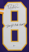 """Randy Moss Signed 35x43 Custom Framed Jersey Inscribed """"Straight Cash Homie"""" (Beckett COA) at PristineAuction.com"""