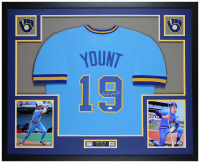 Robin Yount Signed 35x43 Custom Framed Jersey (JSA COA) at PristineAuction.com