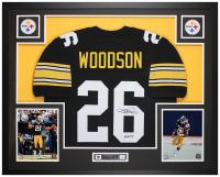 """Rod Woodson Signed 35x43 Custom Framed Jersey Inscribed """"HOF 09"""" (JSA COA) at PristineAuction.com"""