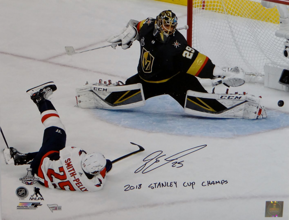 """Devante Smith-Pelly Signed Capitals 16x20 Photo Inscribed """"2018 Stanley Cup Champs"""" (Fanatics Hologram) at PristineAuction.com"""