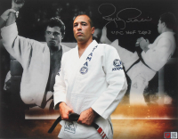 "Royce Gracie Signed UFC 11x14 Photo Inscribed ""UFC HOF 2003"" (PA COA) at PristineAuction.com"