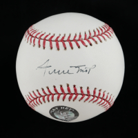 Willie Mays Signed OML Baseball with Display Case (PSA COA) at PristineAuction.com