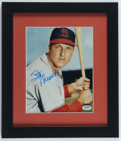 Stan Musial Signed Cardinals 13x15 Custom Framed Photo Display (PSA COA) (See Description) at PristineAuction.com