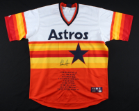 Nolan Ryan Signed Astros Career Highlight Stat Jersey (Ryan Hologram & JSA COA) at PristineAuction.com