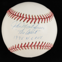 "John Montefusco Signed ONL Baseball Inscribed ""The Count"" & ""1975 N.L. R.O.Y."" (Beckett COA) (See Description) at PristineAuction.com"