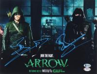 "John Barrowman & Stephen Amell Signed ""Arrow"" 11x14 Photo (Beckett COA) (See Description) at PristineAuction.com"