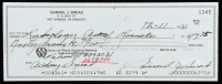Sam Snead Signed 1990 Personal Bank Check (JSA COA) at PristineAuction.com