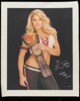 "Trish Stratus Signed WWE 19x23 Print on Canvas Inscribed ""XOX"" & ""WWE HOF 2013"" (COJO COA) at PristineAuction.com"
