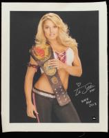 "Trish Stratus Signed WWE 19x23 Print on Canvas Inscribed ""XOX"" & ""WWE HOF 2013"" (COJO COA) at PristineAuction.com"