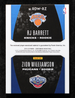 RJ Barrett / Zion Williamson 2019-20 Panini Contenders Rookie Ticket Dual Swatches #2 at PristineAuction.com
