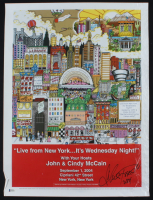 "Charles Fazzino Signed ""Live From New York... It's Wednesday Night!"" 18x24 Print Inscribed ""2004"" (Beckett COA) (See Description) at PristineAuction.com"