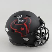 Jacob Martin Signed Texans Eclipse Alternate Speed Mini Helmet (Beckett COA) at PristineAuction.com