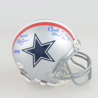 "Bob Lilly & Mel Renfro Signed Cowboys Throwback Mini-Helmet Inscribed ""HOF '80"" & ""HOF-96"" (Beckett COA) at PristineAuction.com"