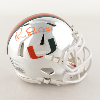 Michael Irvin Signed Miami Hurricanes Chrome Speed Mini Helmet (Beckett COA) at PristineAuction.com