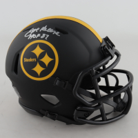 "Joe Greene Signed Steelers Eclipse Alternate Speed Mini Helmet Inscribed ""HOF 87"" (Beckett Hologram) at PristineAuction.com"