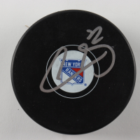 Filip Chytil Signed Rangers Logo Hockey Puck (PSA COA) at PristineAuction.com