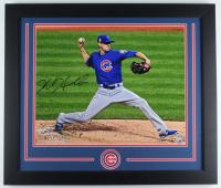Kyle Hendricks Signed Cubs 23x27 Custom Framed Photo Display (Fanatics Hologram & MLB Hologram) (See Description) at PristineAuction.com