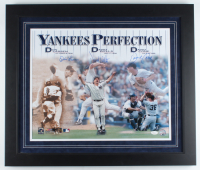 Don Larsen, David Wells, & David Cone Signed Yankees 23x27 Custom Framed Photo Display (JSA COA) at PristineAuction.com