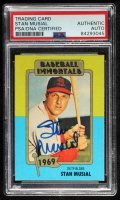 Stan Musial Signed 1980-87 SSPC HOF #114 (PSA Encapsulated) at PristineAuction.com