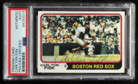 Carlton Fisk Signed 1974 Topps #105 (PSA Encapsulated) at PristineAuction.com