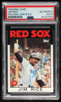 Jim Rice Signed 1986 Topps #320 (PSA Encapsulated) at PristineAuction.com