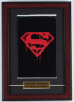 "1992 ""Superman"" 12x17 Custom Framed Issue #75 DC Comic Book Black Bag Collector's Set at PristineAuction.com"